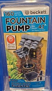 Beckett Corporation M130AS 160 GPH Submersible Auto-Shutoff Small Pump for 4.1'