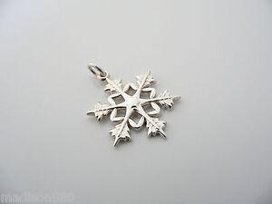 984691738d8af Details about Tiffany & Co Silver Snowflake Charm Clasp 4 Necklace Bracelet  Excellent Rare