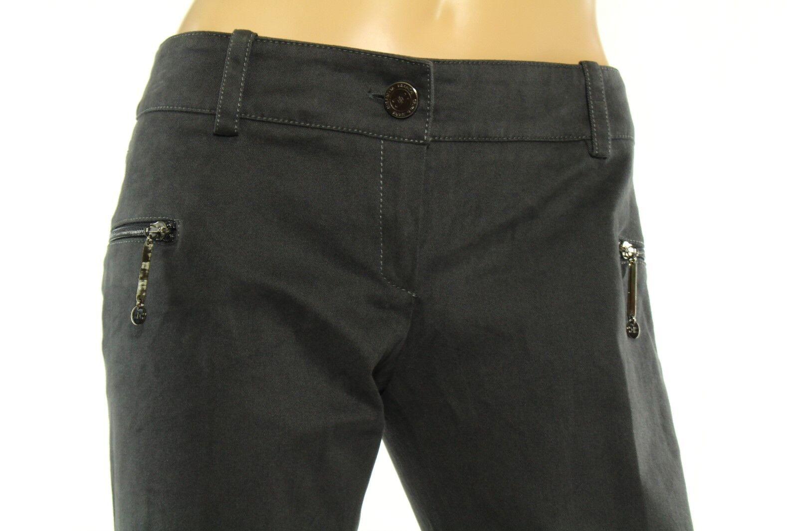 Eliasabetta Franchi Celyn B Damen Grau Enge Jeans Größe 44 (29 Us)