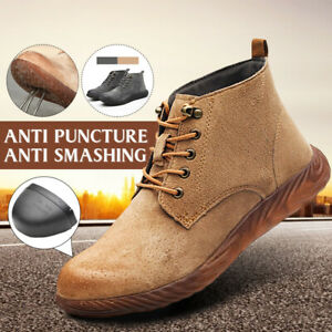 AtreGo-Men-039-s-Steel-Toe-Safety-Work-Shoes-Anti-smashing-Casual-Industrial