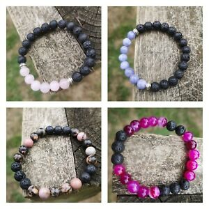 Everything Else Aromatherapy Bracelet Natural Stone Beads Set,oil Difusser,yoga,healing,chakra Lovely Luster