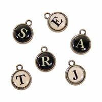 Typewriter Key Charms Diy Vintage Style Charms Letter Charms Alphabet