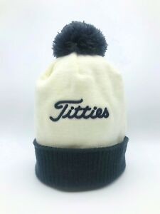 5704995425b Titties winter hat beanie PGA Titleist theme bubble hat wool White ...