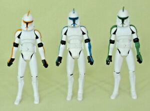 Star-Wars-Clone-Wars-Trooper-Figure-Lot-212th-Attack-41st-Elite-501st-Blue-Green