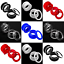 Flesh-Tunnel-SCREW-ON-ACRYLIC-Ear-Plug-Easy-Fit-Stretchers-Defenders-5-colours miniatuur 1