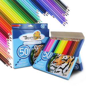 Thornton-039-s-Art-Supply-Premier-Soft-Core-50-Piece-Artist-Grade-Colored-Pencils