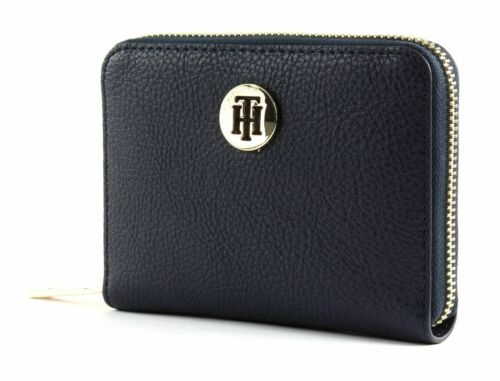 TOMMY HILFIGER TH Core Medium Zip Around Wallet Geldbörse Sky Captain Blau