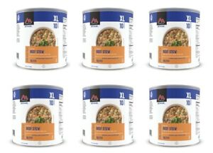 New Mountain House Beef Stew #10 Can Freeze Dried Food - 6 CANS Free Shipping