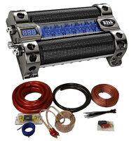Boss Cap8 8 Farad Led Digital Car Power Capacitor Cap + 0 Gauge Wiring Kit on sale