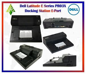 LOT OF 5 DELL E-Port II USB 3.0 Laptop Dock Station Replicator Latitude E-Series