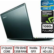 "Lenovo Ideapad Z710 17.3"" Full HD LED Intel i7 1TB HDD 12GB RAM Nvidia 840M UK"