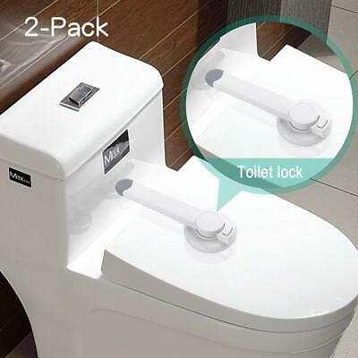 2 pack Dream Baby Adhesive Toilet Lid Safety Locks