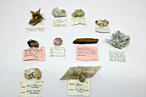 10-Mineralien-Fluorit-Tigerauge-Coelestin-Angervilliers-Gips-Cerussit-Apophyllit