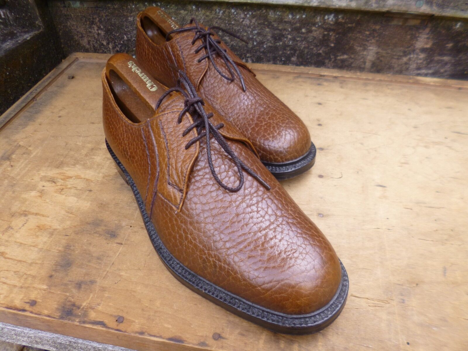 CHEANEY CHEANEY CHEANEY   CHURCH VINTAGE DERBY – braun   TAN – UK 8.5 – MOLTON -SUPERB CONDITION 779fec