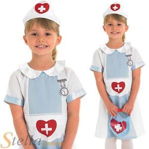 7e8bf1b1236ae Image is loading Girls-Nurse-Fancy-Dress-Childrens-Kids-Costume-Hospital-