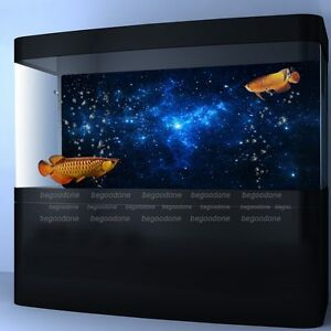 Star dust galaxy aquarium background poster fish tank for Aquarium background decoration