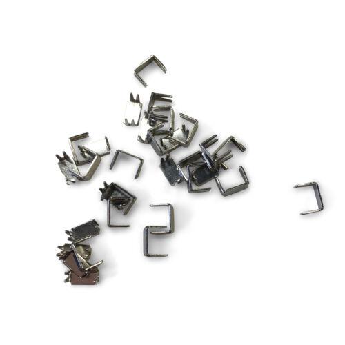 100 Pack YKK #5 Bottom Stops Nickel Regular Metal