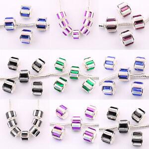 Top-5-20Pcs-European-Czech-Rhinestone-Lampwork-Beads-Loose-Spacer-Beads-11x10mm