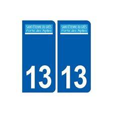 13 Saint-étienne-du-Grès logo ville autocollant plaque sticker droits