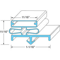 Gasket, Door For Traulsen - Part Svc-60059-00 Same Day Shipping
