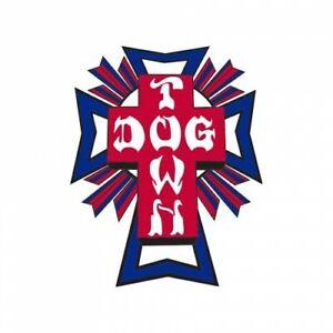 DOGTOWN-034-Cross-Logo-034-Skateboard-Sticker-5cm-Small-Old-Skool-BLUE-RED-1970s-1980s