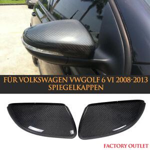 Paar Replacement Carbon Spiegelkappen Für VW Golf 6 GTI R20 Außenspiegel Mirror