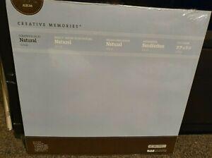 CREATIVE-MEMORIES-12x12-NATURAL-ALBUM-PAGES-BNIP-Refill-Scrapbook