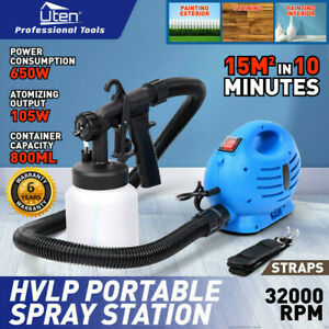 Details about Electric HVLP Paint Sprayer Spray Gun Lacquer Fence Wall  Furniture 650W 800ml