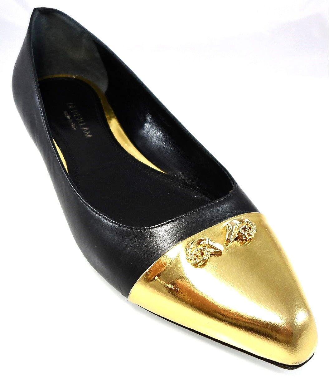 550 DEREK LAM COLLECTION AVERY SKIMMER SLIP ON FLATS gold POINT TOE Womens 39 9