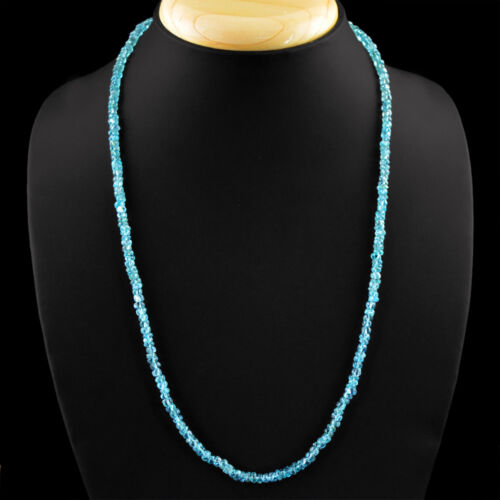 Best Quality 83.00 Cts Earth Mined Untreated Apatite Round Beads Neckalce RS