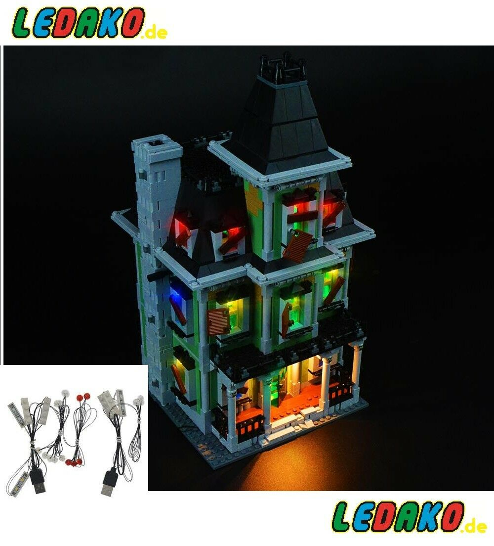LED Beleuchtungsset für Lego® 10228 haunted house Geister Haus advanced edition