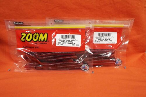 ZOOM Speed Worm 2 PCKS 15cnt #051-250 Watermelon Red Tomatoe
