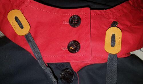 scuro F85581 blu cappotto Mac 550 Nwt Trench media taglia 888067691696 Coach Colorblock Jacket 1YHnWpX4
