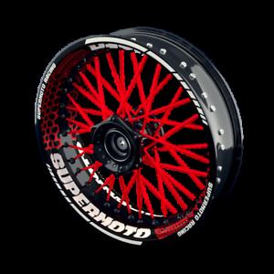 Felgenaufkleber Felgenrandaufkleber Motorrad für Supermoto Felgen Set Design 3