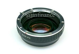 Canon Eos Fx Ef Rj Speed Booster Turbo Adapter To Fuji Fx