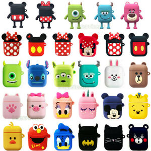 3d Cute Cartoon Disney Silicone Earphone Protective Cover For Apple Airpods Case Ebay