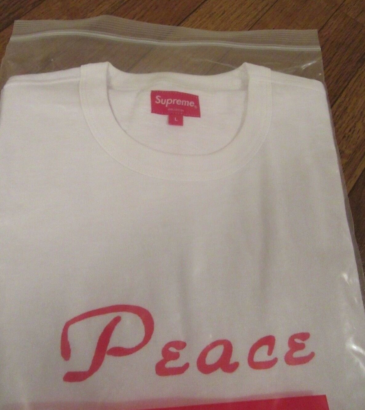 Supreme Peace S/S Top Größe Large Weiß FW18KN69 FW18 Supreme New York 2018 NEW