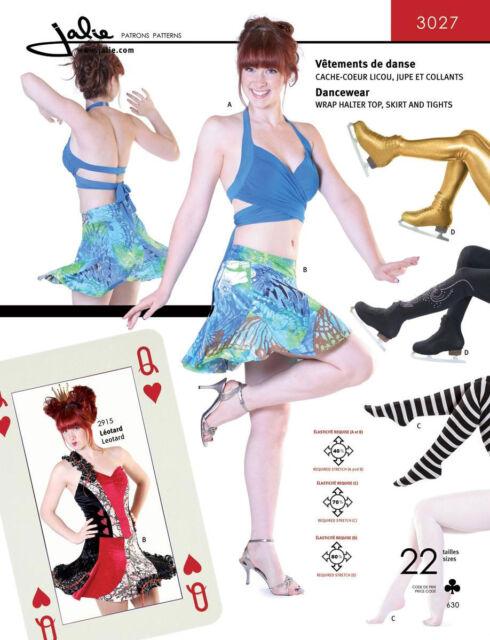 Jalie Wrap Halter Top Skirt Tights Dancewear Sewing Pattern 3027 In
