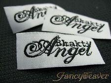 200pcs Custom Lettering Clothing Woven Damask Labels
