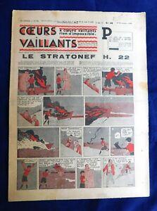 AgréAble Coeurs Vaillants 1938 N°45 - Hergé. Tintin. Le Mystère De L'avion Gris Renforcement Des Nerfs Et Des Os