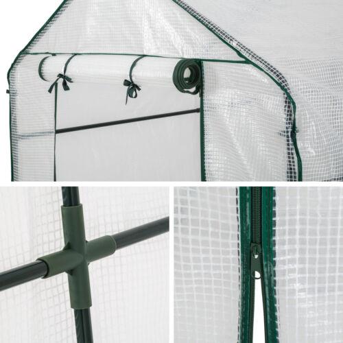 Invernadero casa de jardín invernadero jardín vivero tomates PVC diapositiva 186x120x190cm