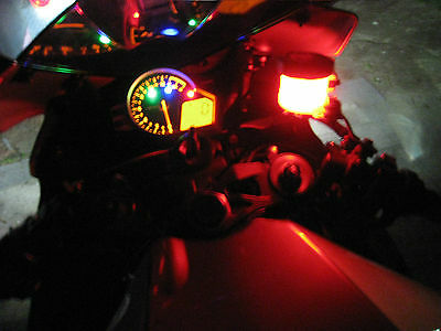 Red Ultra Bright LED Motorcycle Accent Low Gleam Street Bike Show Stunt Light