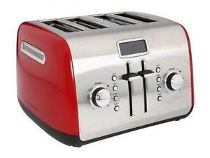Image Is Loading KitchenAid RR KMT422ER 4 Slice Digital Toaster W