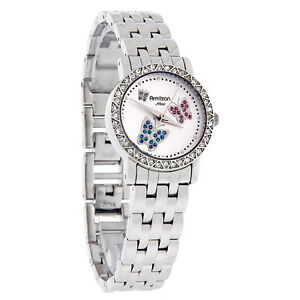 Armitron-Ladies-Blue-amp-Pink-Crystal-Butterfly-Motif-Silver-Dress-Watch-75-3677SV