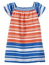 GAP Baby Girl 12-18 Months NWT Nautical Red, White & Blue Striped Dress