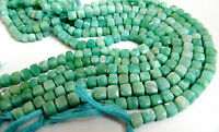 """AAA Quality Natural Amazonite Faceted Beads, Size 7-8mm 8"""" Strand, FREE SHIPPING"""