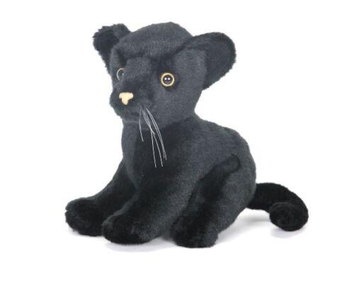 Schwarzer Panther sitzend 18 cm Kuscheltier Stofftier Plüschtier Hansa Toy 3426