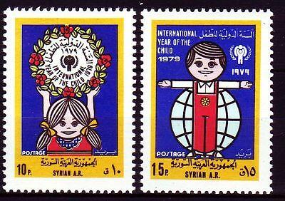 Mittlerer Osten Syrien Syrien Syria 1979 ** Mi.1433/34 Jahr Des Kindes Year Of The Child Von Der Konsumierenden öFfentlichkeit Hoch Gelobt Und GeschäTzt Zu Werden