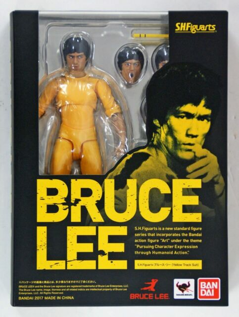 S.H. Figuarts Bruce Lee (Yellow Track Suit) Bandai SH - Brand New