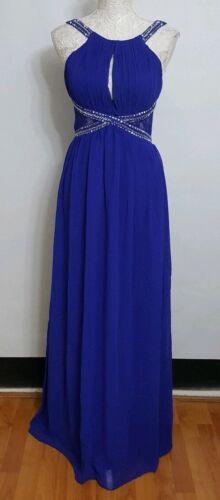 Empire Taille Petite Eu40 Bleu Cobalt Maxi Robe Uk12 Femme v4UUx